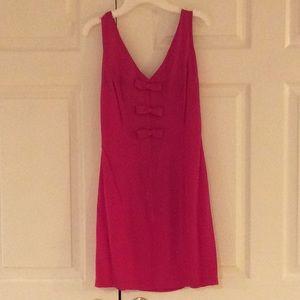 Vintage Betsey Johnson hot pink dress sz Small EUC